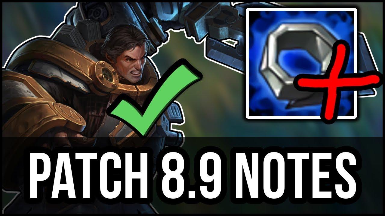 Patch Notes 8 9 Rundown/Analysis - Mana Nerfs, GAREN BUFFS! - League of  Legends Patch Notes