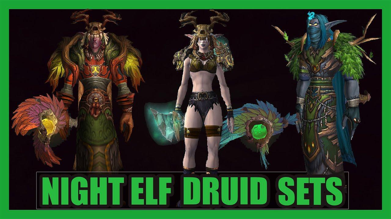 Night Elf Druid Transmog 5 Creative Wow Sets Wod 703 Youtube