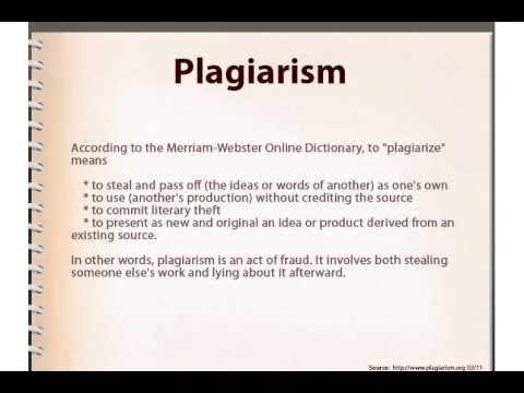 Plagiarism Youtube