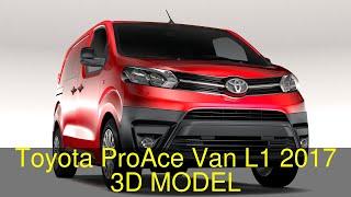 3D Model of Toyota ProAce Van L1 2017 Review