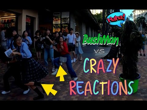 BUSHMAN vs CRAZY REACTIONS!!!