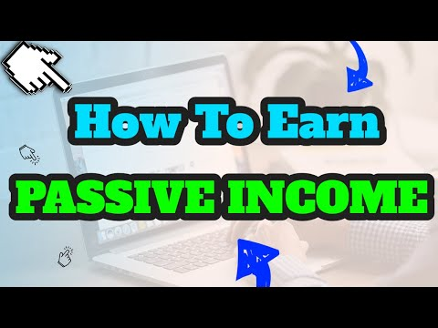 How to start earning a real PASSIVE INCOME!