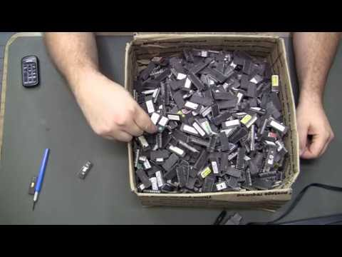 Electronics Therapy - scrap chips lot - search for 27c801 - precious metal recovery