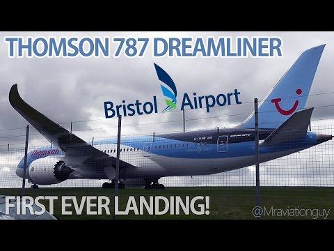 *RARE* Thomson Airways Boeing 787 Dreamliner Landing at Bristol Airport - FIRST VISIT! (19/4/16)