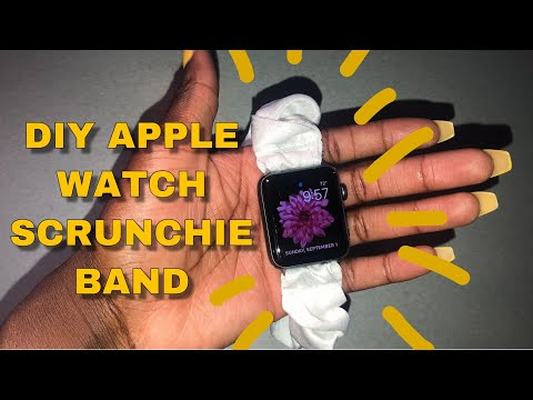 DIY How to Make an Apple Watch Scrunchie Band