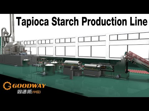 Cassava Starch Processing Plant China Factory