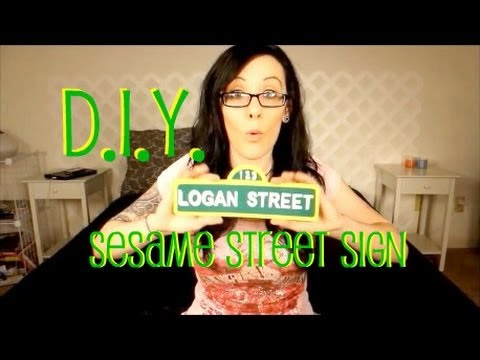 Diy sesame street sign for parties youtube pronofoot35fo Choice Image