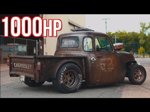 1000HP Rat Rod Truck GAPS EVERYTHING - He Built It For Under $10,000!
