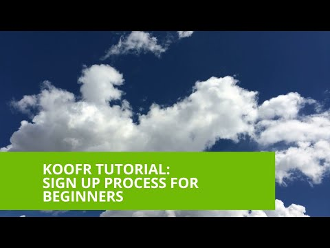 Sign up to Koofr for Beginners