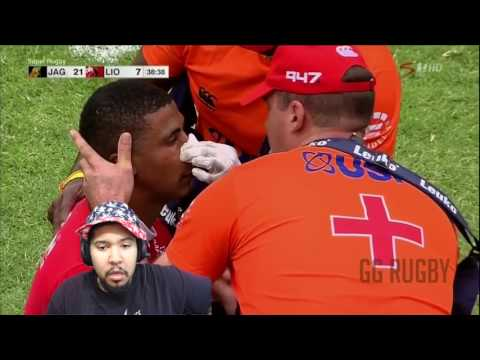 HOLY SHIT!!!! *REACTION* RUGBY HARDEST HITS 2017