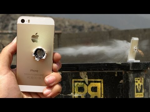 iPhone 5s vs 50 cal - RatedRR Slow-Mo Torture Test