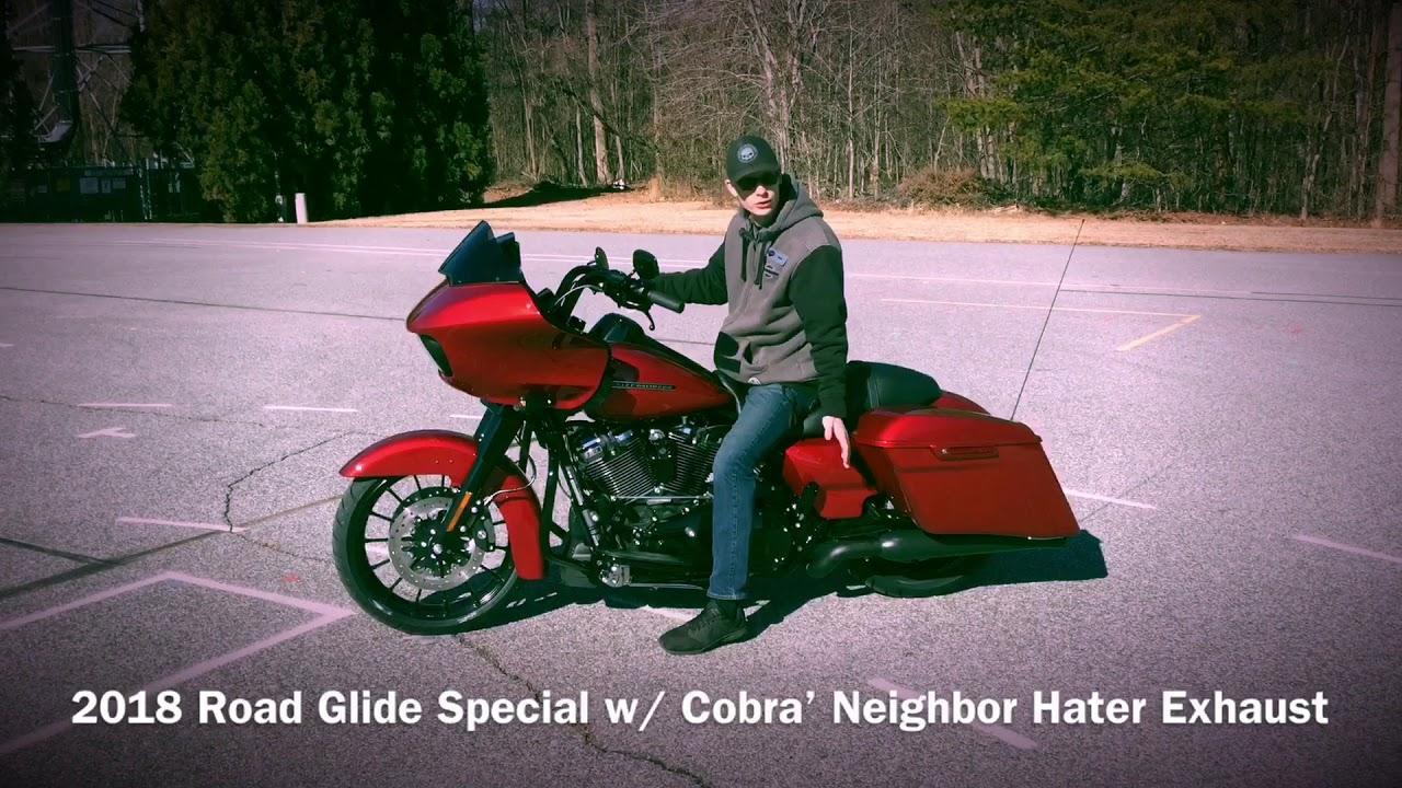 2018 harley davidson road glide special w cobra neighbor hater exhaust