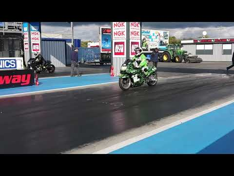 9 Second ZX-11 (ZZR 1100) Nitrous Drag Bike - Time For A New Clutch