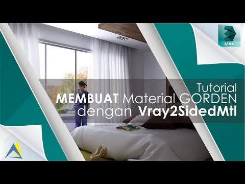 How To Make curtain material 3DS MAX Vray2SidedMtl - 3ds max tutorial