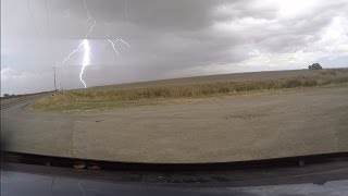 Close Lightning Strike in Woodland, California (Wildfire included!)