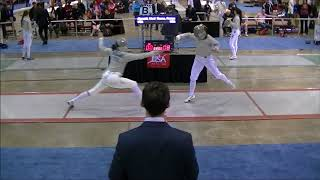 2015 Div I Nationals Women's Saber T16: Aksamit vs Russo