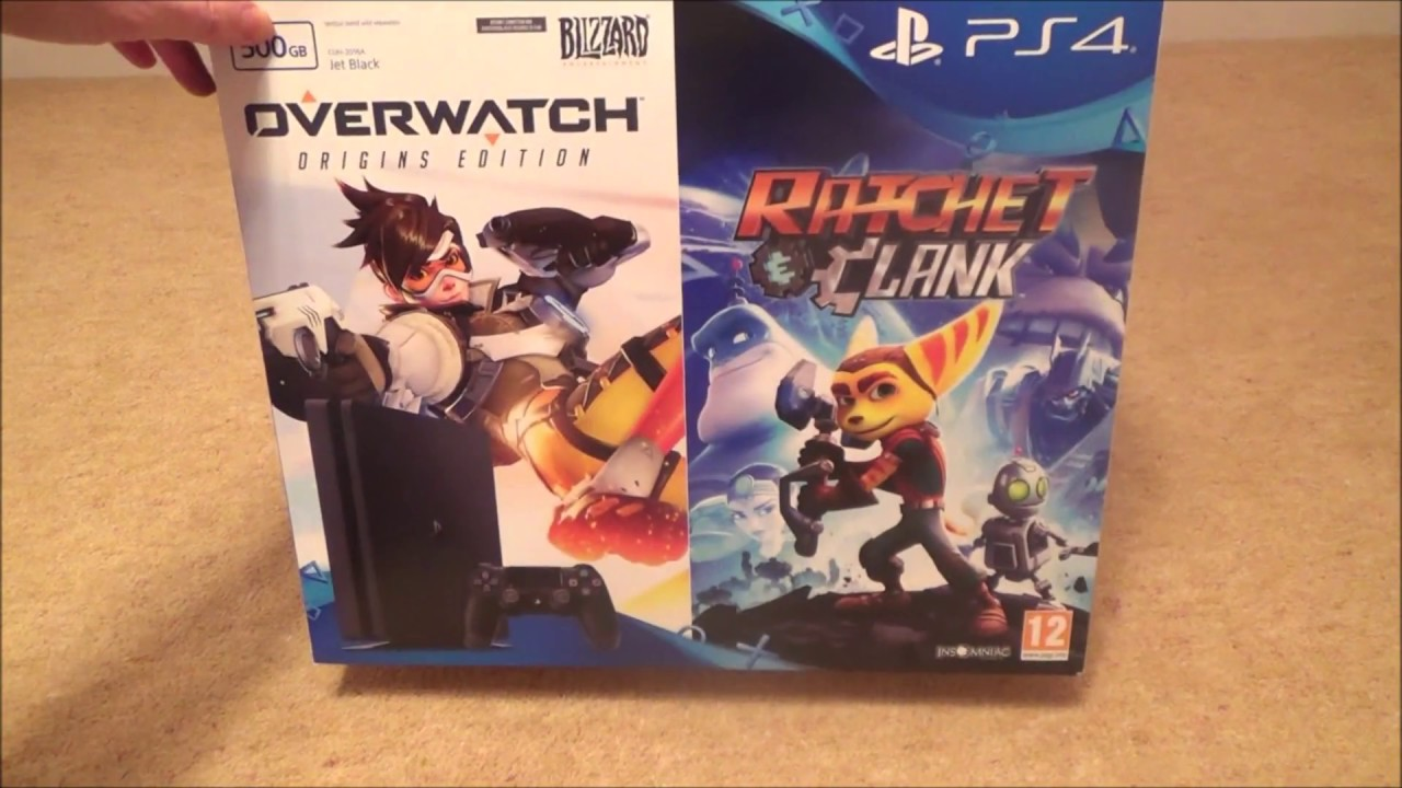 Playstation Ps4 Slim 500gb Unboxing With Overwatch And Ratchet Ps4overwatch Reg 2 Clank