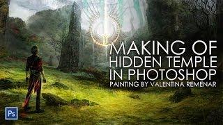 Hidden Temple: Digital Painting Progress (speed drawing)