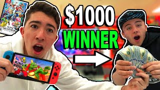 I Challenged Strangers to Super Smash Bros Ultimate For $1,000