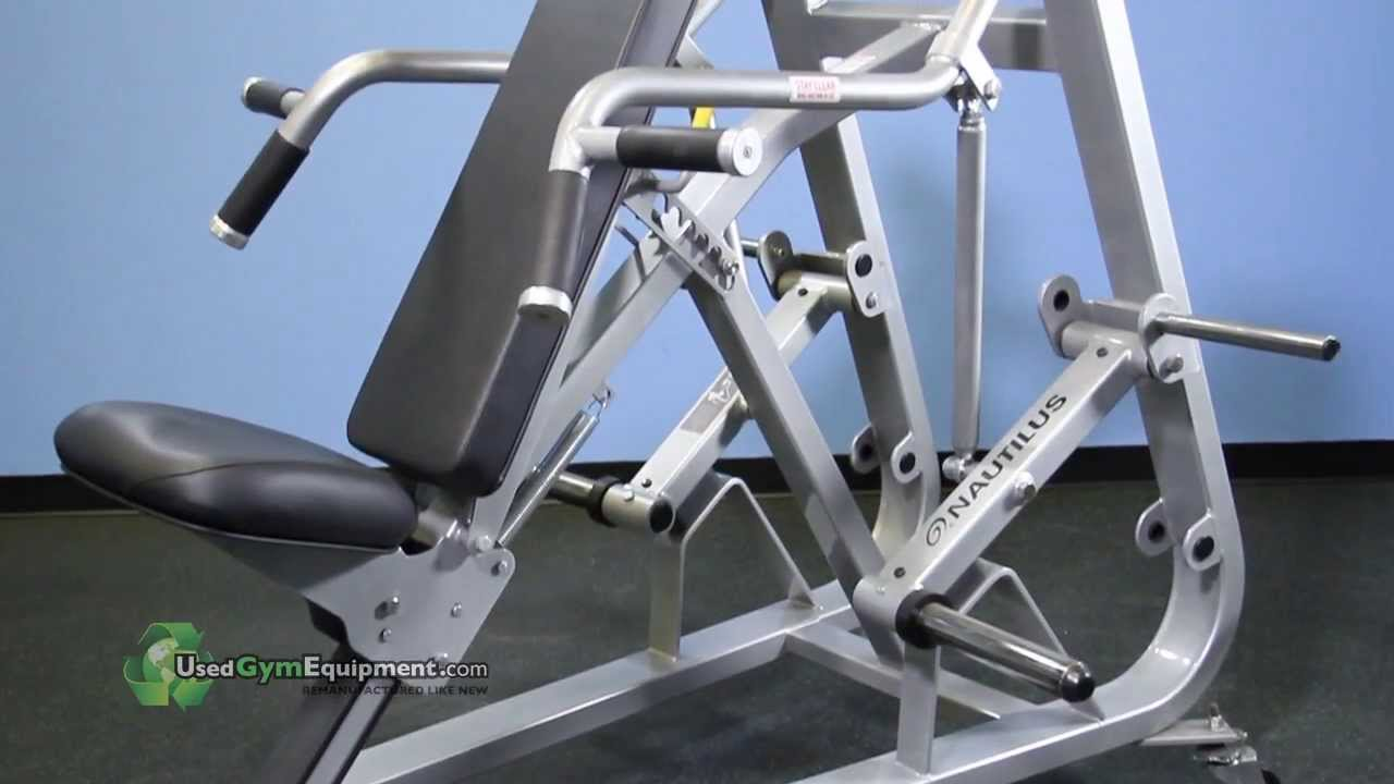 Press plate loaded refurbished fitness equipment for sale youtube