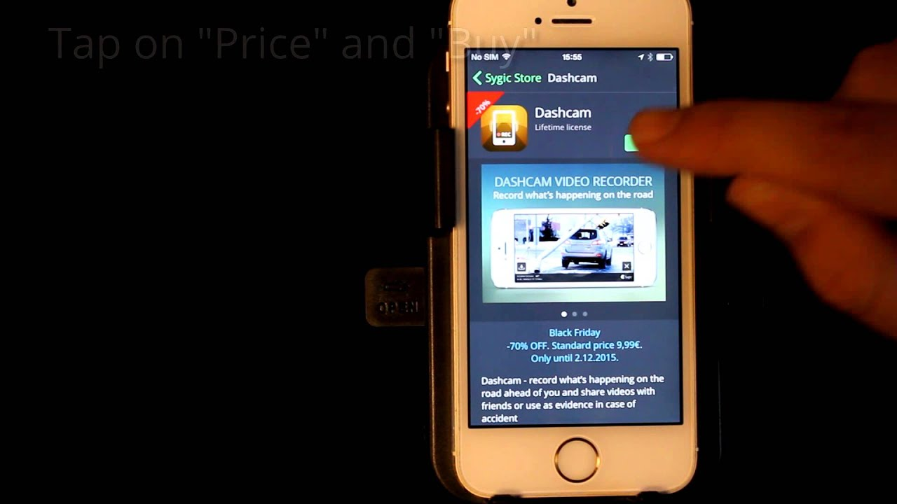 Sygic GPS Navigation for iOS - How to purchase Dashcam