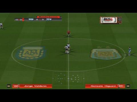 ARGENTINA 1986 vs ARGENTINA 2014 - *PARTIDO HISTÓRICO*
