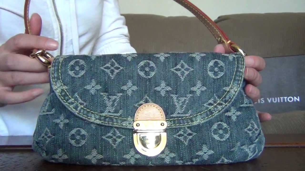 My Louis Vuitton Collection Part 12 Blue Denim Monogram Mini Pleaty Bag You