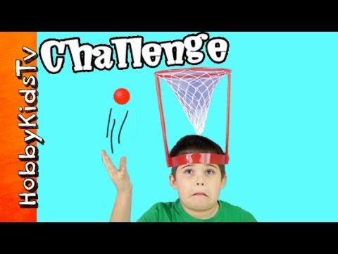 Make Basket Case Challenge! Head Hoop Game w/HobbyPig, HobbyFrog + Bear by HobbyKidsTV Pictures