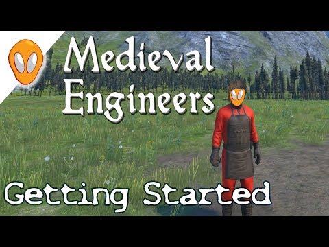 Starter Base | Medieval Engineers Survival Ep1