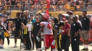 James Conner Insane One-Handed Catch vs. Chiefs | NFL Highlights