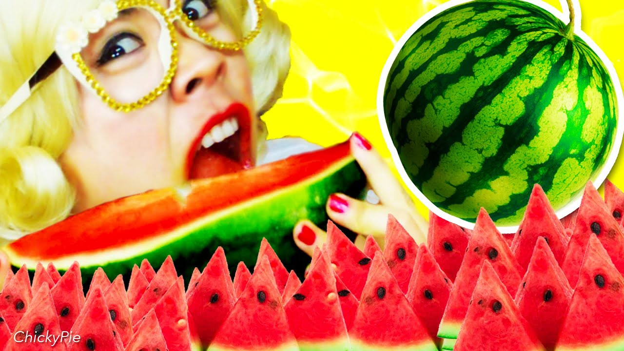 กินจุ กินโชว์ | เกม กิน แข่งกิน แตงโม【คนกินจุ ชิคกี้พาย