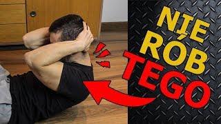 Ból szyi podczas treningu na brzuch | (NIE RÓB TEGO)