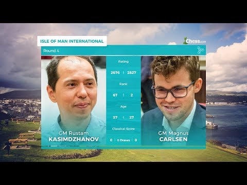 Chess.com Isle of Man International: Round 4 | Kazimdzhanov Vs Carlsen