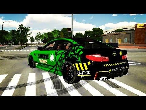 Как сделать винил KORONA VIRUS на  BMW F90 BULKIN в car parking multiplayer