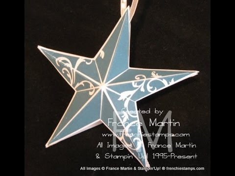 3-D Christmas Star Ornament frenchiestamps.com