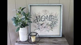 Re·design With Prima® Floral Home Sign With Decor Transfers™