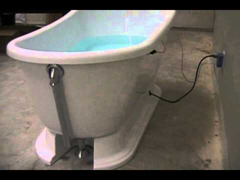 freestanding tub with jets. Concealed Blower Freestanding Whirlpool Tub  YouTube