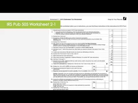 Estimated Tax Payments How When To Calculate Pay Youtube