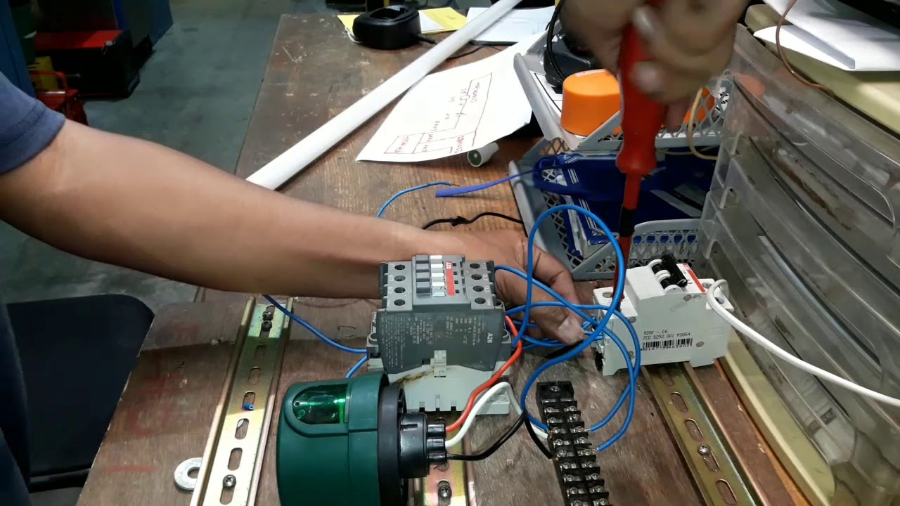 How To Wiring Photocell With Magnetic Contactor Connection Part 3 Youtube