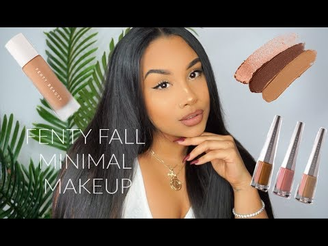 FENTY BEAUTY FALL MINIMAL MAKE UP TUTORIAL | TheAnayal8ter