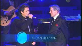 Tony Benett & Alejandro Sanz Lunas 2011 con Manzanero LIVE