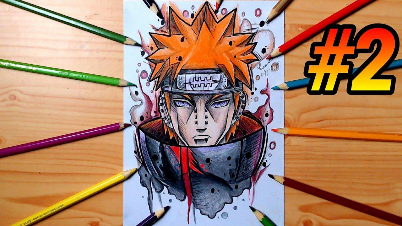 Como Colorir O Pain Passo A Passo Como Dibujar A Pain Drawing