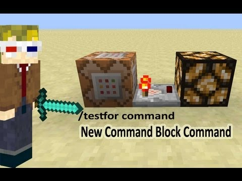 How to use the testfor Command Block command. Minecraft 1.5