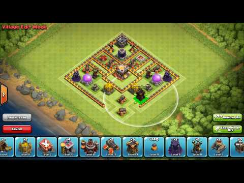 clash of clans town hall 10 th10 best farming base hybrid base ever 2016 youtube. Black Bedroom Furniture Sets. Home Design Ideas