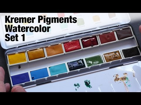 Review: Kremer Pigments Watercolor Set 1