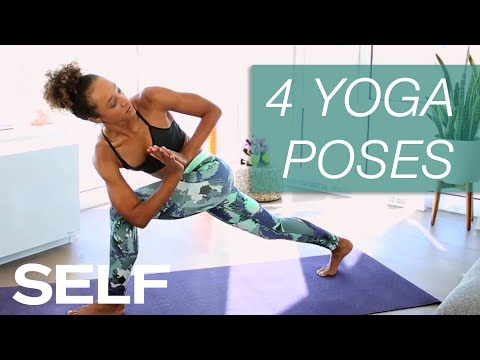 4 yoga poses for stronger abs  self  youtube