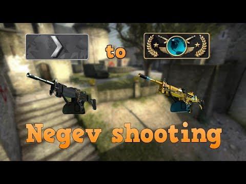 Silver 1 to Global Elite ★ Negev shooting