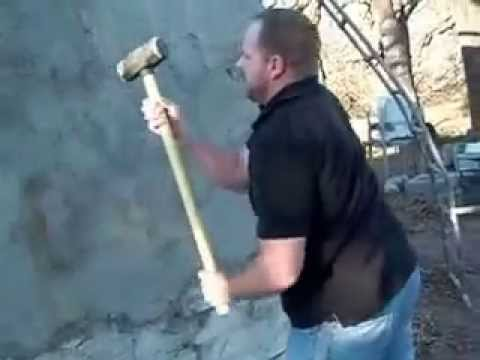 Styrofoam Dome large dude with sledgehammer vs styrofoam dome - youtube