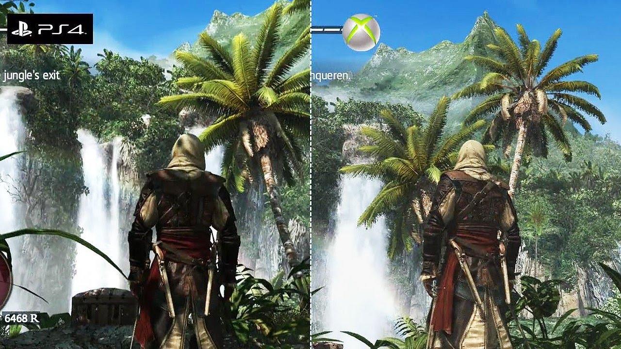 Assassin S Creed 4 Black Flag Grafik Vergleich Ps4 Vs