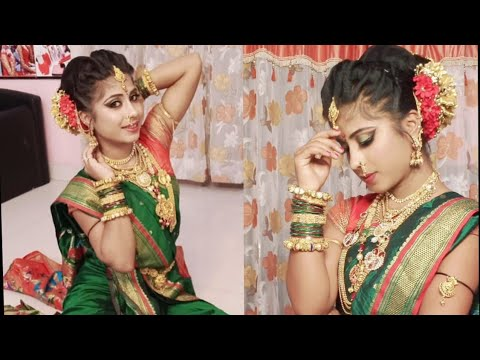 Maharashtrian Bridal Makeup Look / With Nauvari Saree / Traditional Eye Makeup 2020